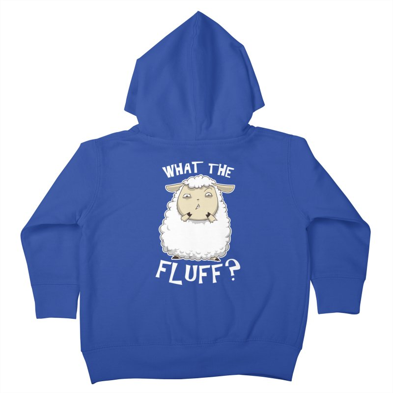 What the Fluff? Kids Toddler Zip-Up Hoody by Stuff, By Alan Bao