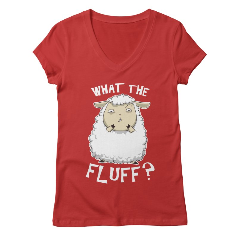 What the Fluff? Women's V-Neck by Stuff, By Alan Bao