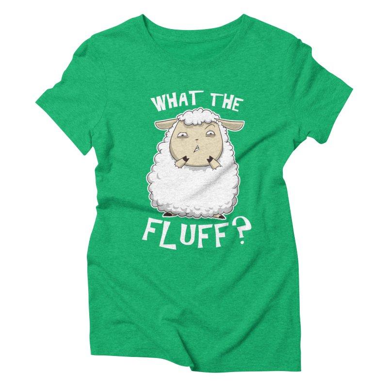 What the Fluff? Women's Triblend T-shirt by Stuff, By Alan Bao