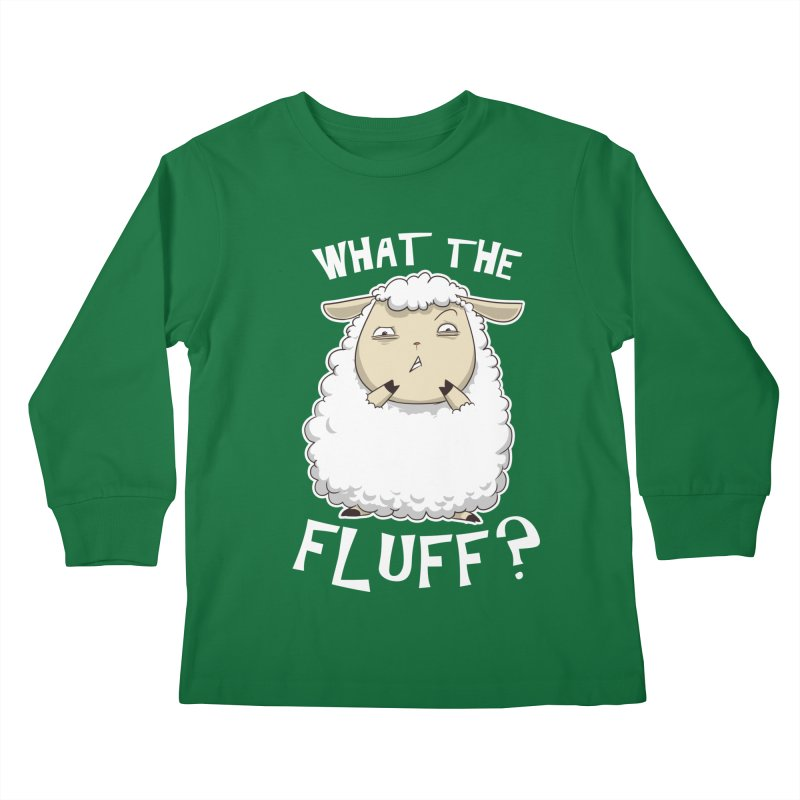 What the Fluff? Kids Longsleeve T-Shirt by Stuff, By Alan Bao