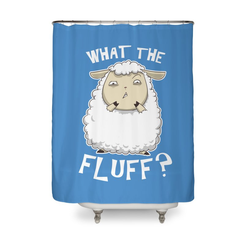 What the Fluff? Home Shower Curtain by Stuff, By Alan Bao