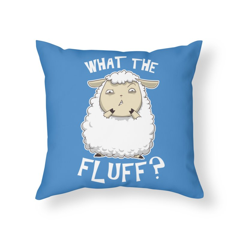 What the Fluff? Home Throw Pillow by Stuff, By Alan Bao
