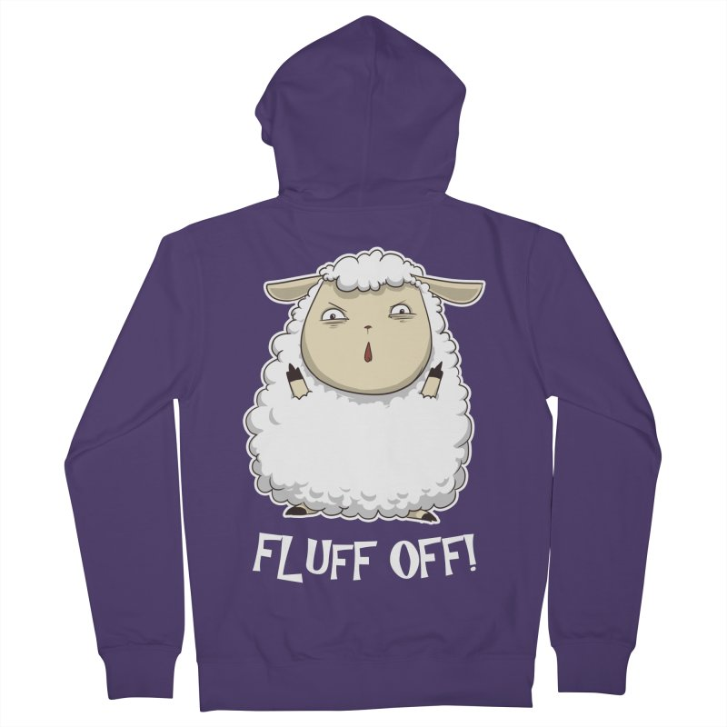 Fluff Off! Women's French Terry Zip-Up Hoody by Stuff, By Alan Bao