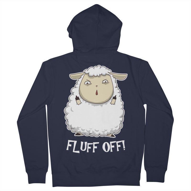 Fluff Off! Women's Zip-Up Hoody by Stuff, By Alan Bao