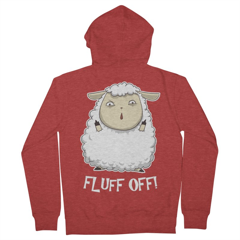 Fluff Off! Men's Zip-Up Hoody by Stuff, By Alan Bao