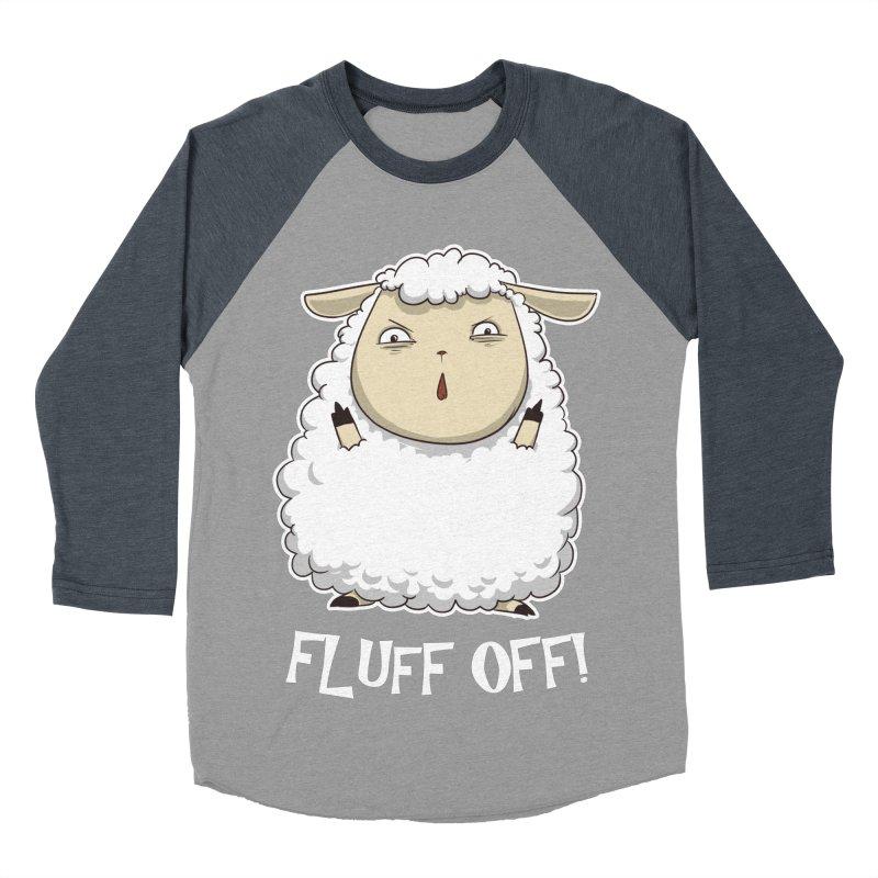 Fluff Off! Women's Baseball Triblend T-Shirt by Stuff, By Alan Bao