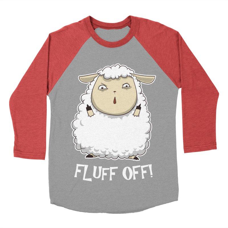 Fluff Off! Men's Baseball Triblend T-Shirt by Stuff, By Alan Bao