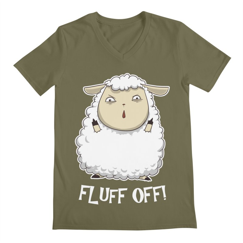 Fluff Off! Men's V-Neck by Stuff, By Alan Bao