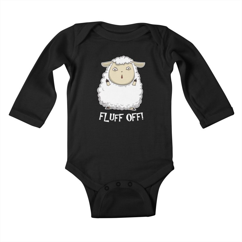 Fluff Off! Kids Baby Longsleeve Bodysuit by Stuff, By Alan Bao