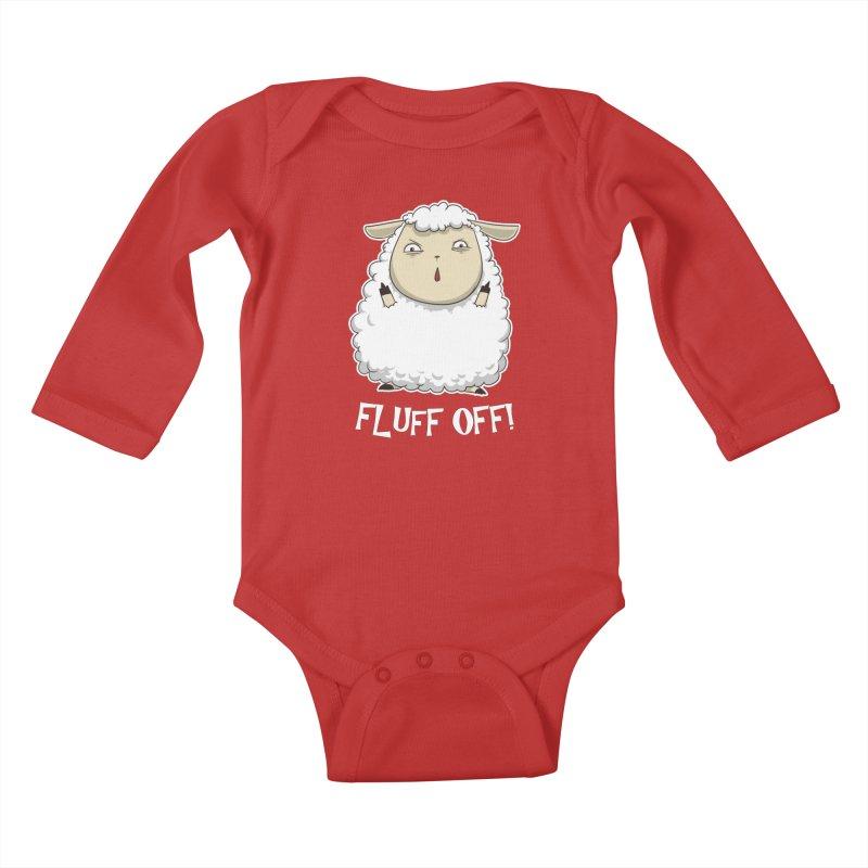 Fluff Off! Kids Baby Longsleeve Bodysuit by Stuff, By Alan Bao
