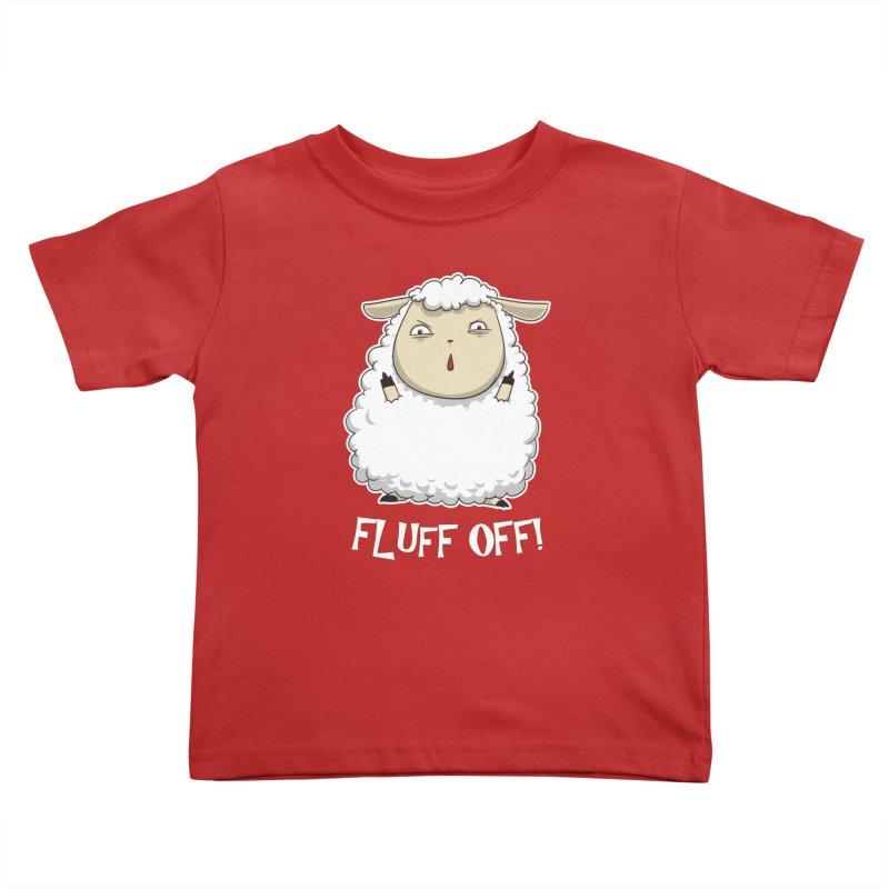 Fluff Off! Kids Toddler T-Shirt by Stuff, By Alan Bao