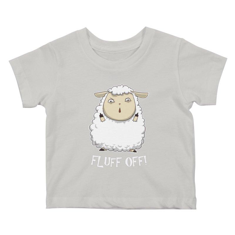 Fluff Off! Kids Baby T-Shirt by Stuff, By Alan Bao