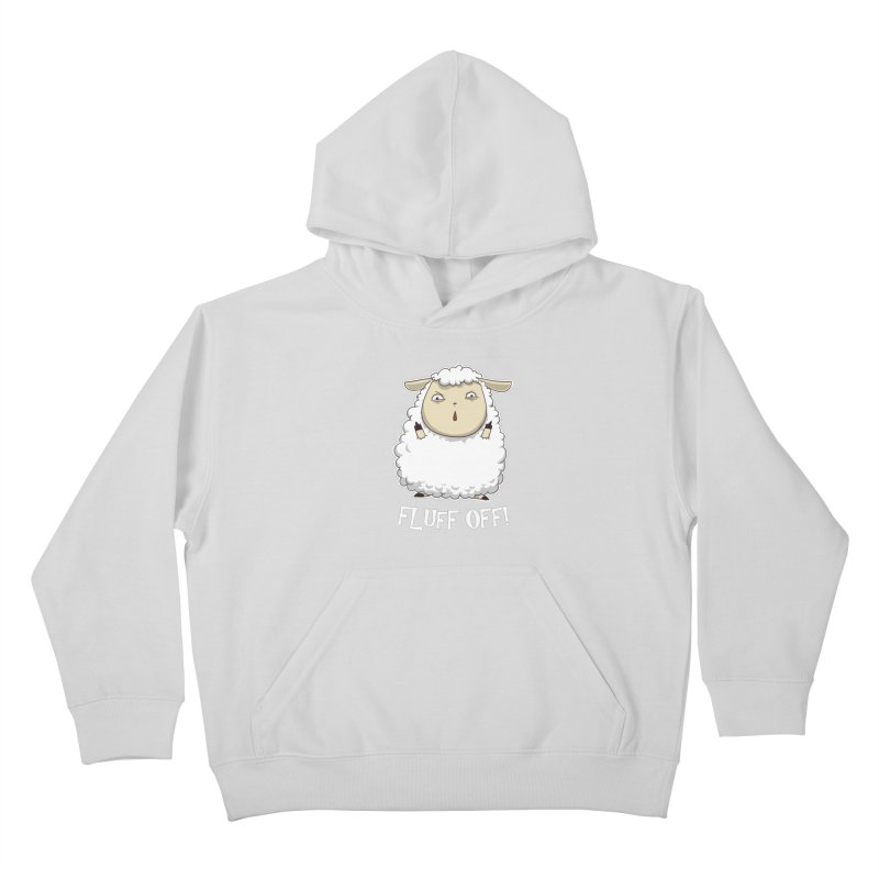 Fluff Off! Kids Pullover Hoody by Stuff, By Alan Bao