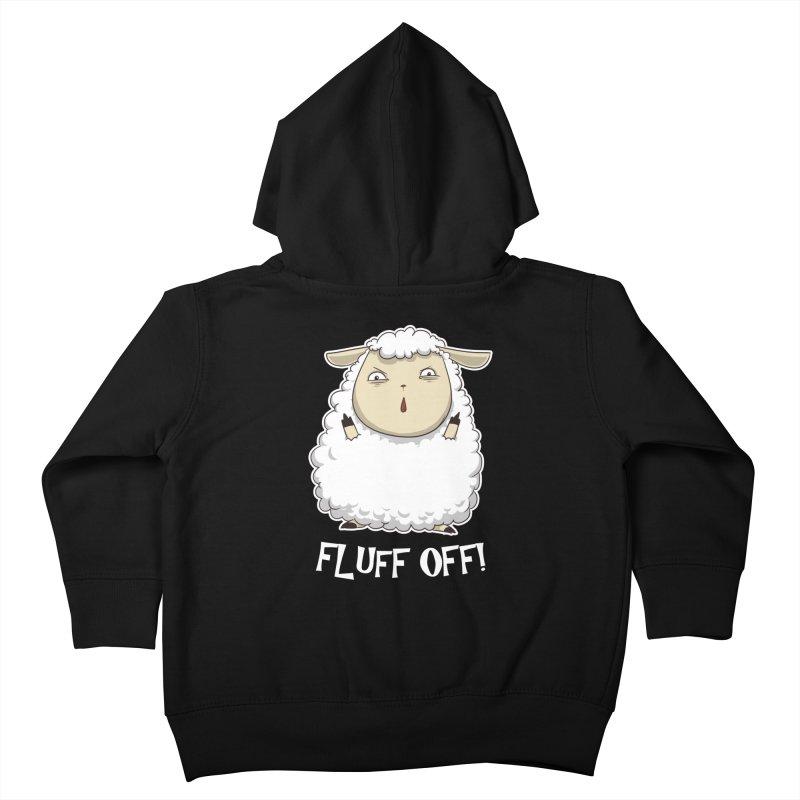 Fluff Off! Kids Toddler Zip-Up Hoody by Stuff, By Alan Bao