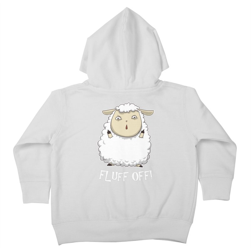 Fluff Off! Kids Toddler Zip-Up Hoody by Stuff, By Alan Bao