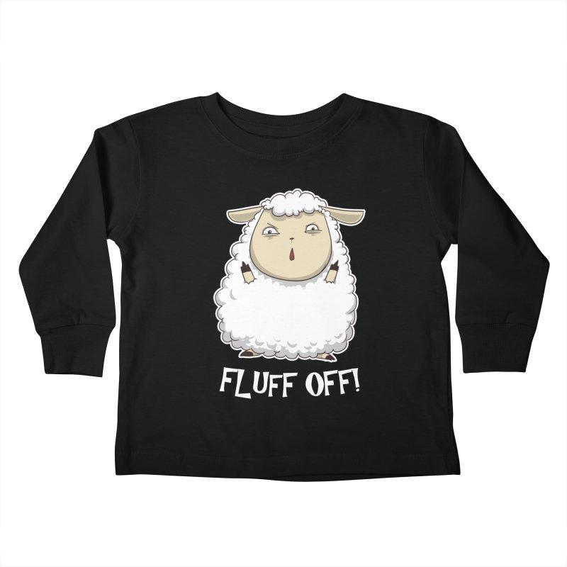 Fluff Off! Kids Toddler Longsleeve T-Shirt by Stuff, By Alan Bao