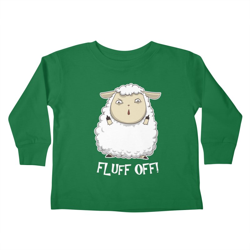 Fluff Off! Kids Toddler Longsleeve T-Shirt by Stuff, By Alan Bao