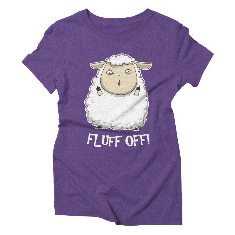 Fluff Off! Women's Triblend T-Shirt by Stuff, By Alan Bao