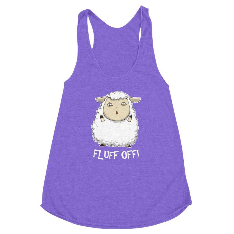 Fluff Off! Women's Racerback Triblend Tank by Stuff, By Alan Bao