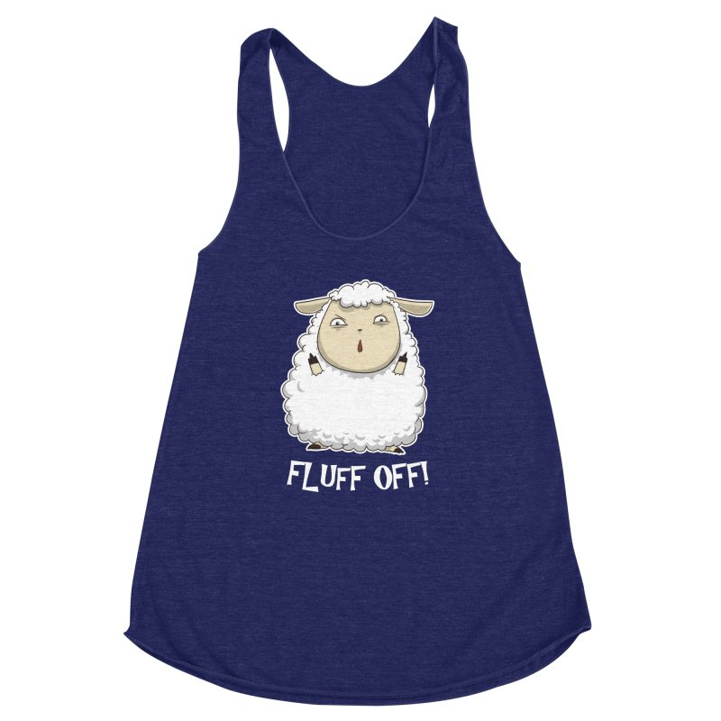 Fluff Off! Women's Racerback Triblend Tank by Stuff, By Alan Bao