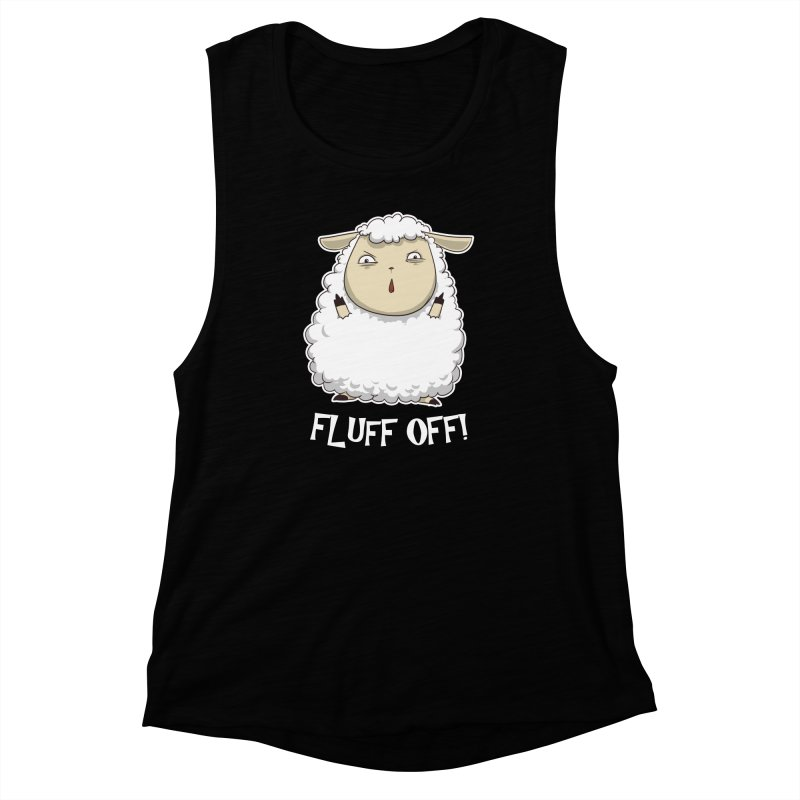 Fluff Off! Women's Muscle Tank by Stuff, By Alan Bao