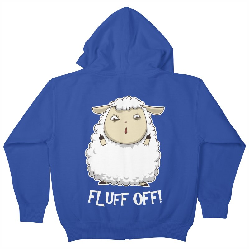 Fluff Off! Kids Zip-Up Hoody by Stuff, By Alan Bao
