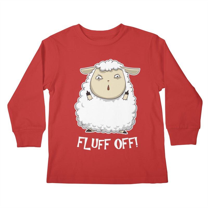 Fluff Off! Kids Longsleeve T-Shirt by Stuff, By Alan Bao