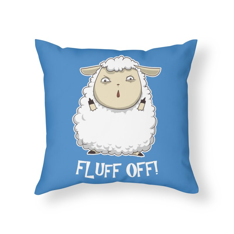 Fluff Off! Home Throw Pillow by Stuff, By Alan Bao