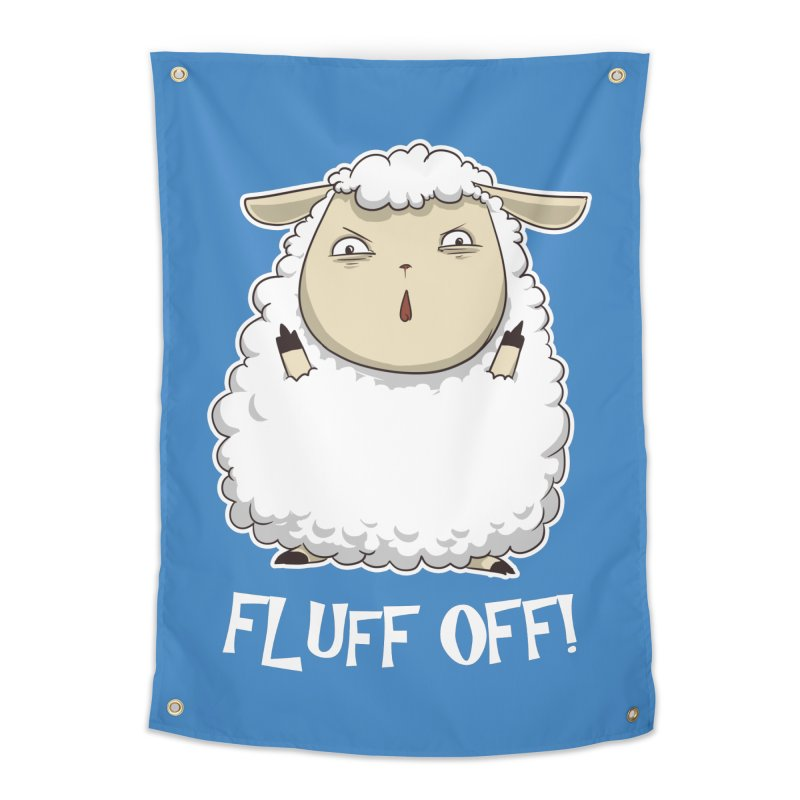 Fluff Off! Home Tapestry by Stuff, By Alan Bao