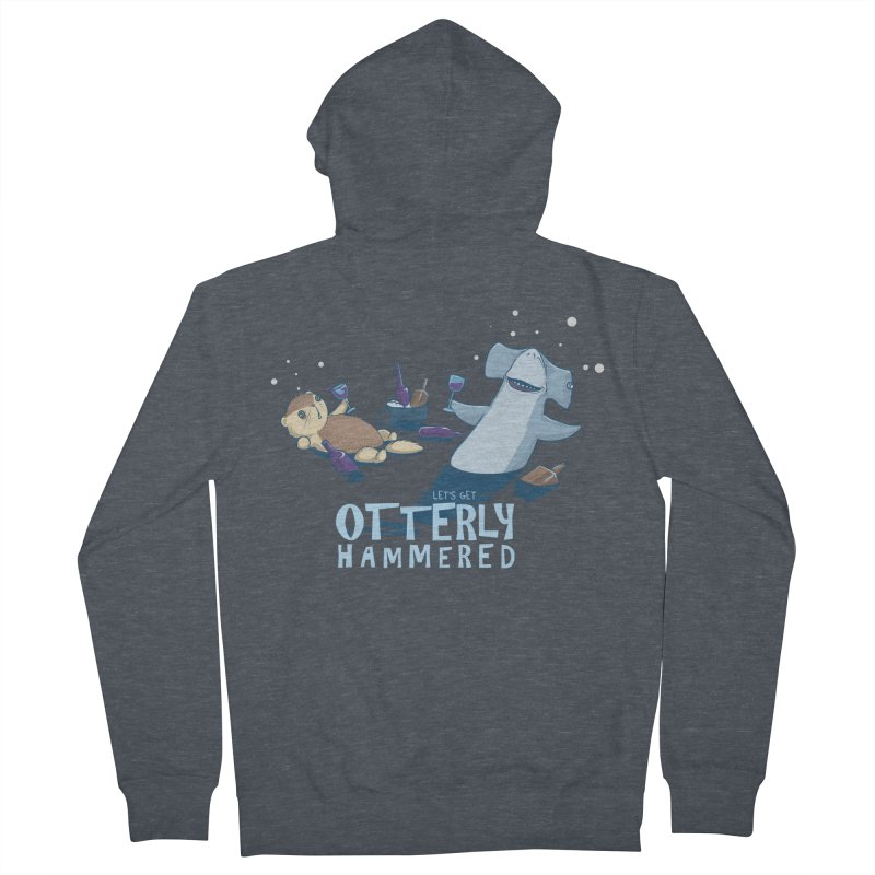 Otterly Hammered Men's Zip-Up Hoody by Stuff, By Alan Bao