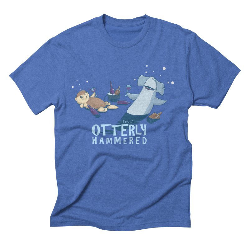Otterly Hammered Men's Triblend T-shirt by Stuff, By Alan Bao