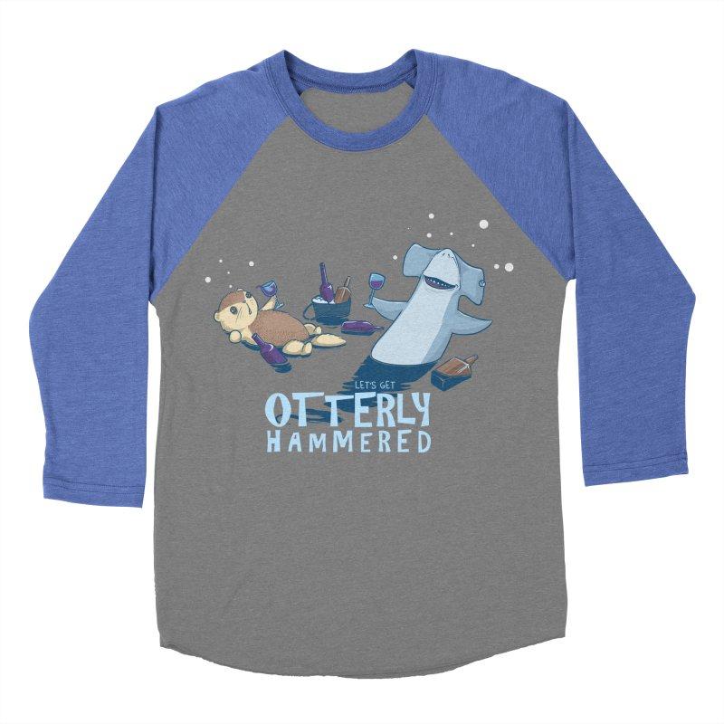 Otterly Hammered Men's Baseball Triblend T-Shirt by Stuff, By Alan Bao