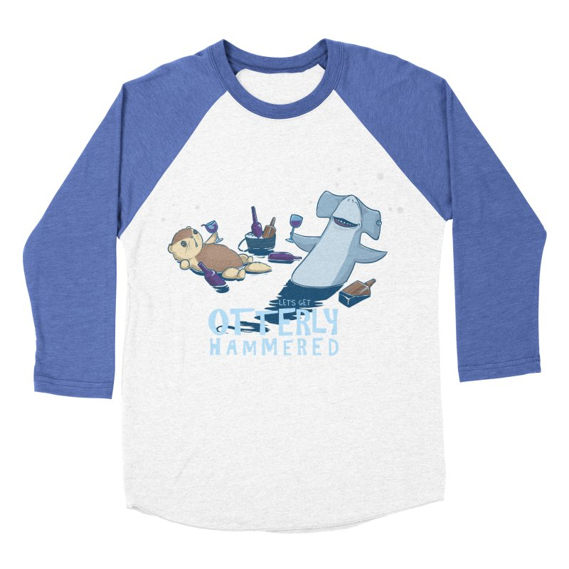 Otterly Hammered Men's Baseball Triblend T-Shirt by Stuff, By Alan Bao