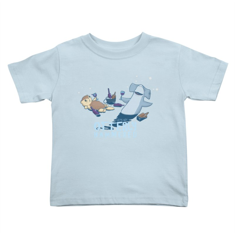 Otterly Hammered Kids Toddler T-Shirt by Stuff, By Alan Bao
