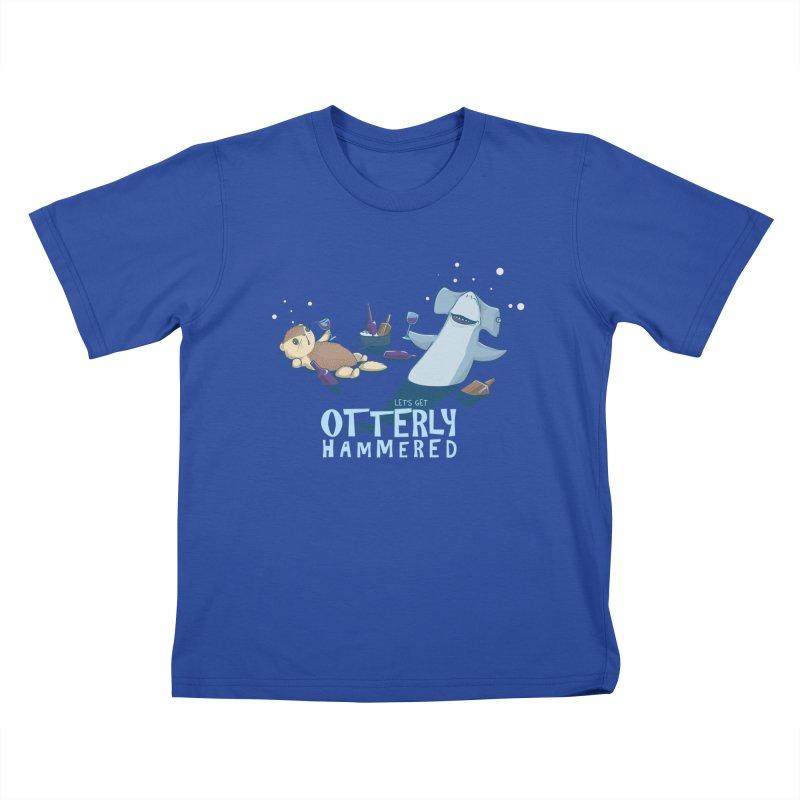 Otterly Hammered Kids T-Shirt by Stuff, By Alan Bao