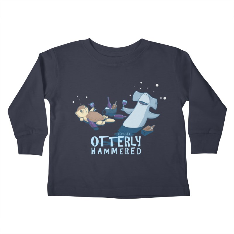 Otterly Hammered Kids Toddler Longsleeve T-Shirt by Stuff, By Alan Bao
