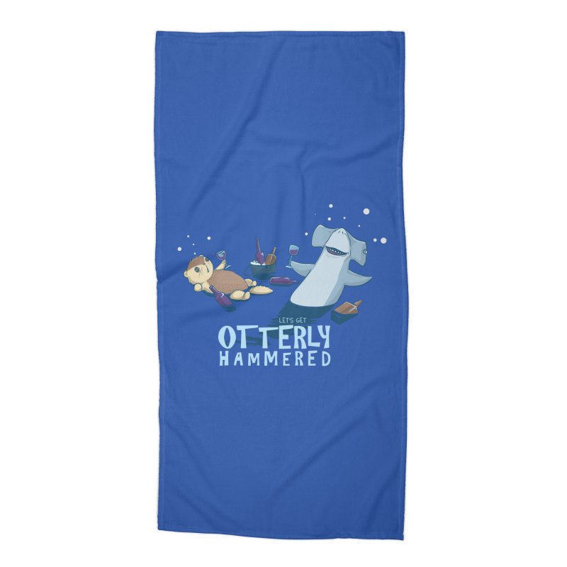 Otterly Hammered Accessories Beach Towel by Stuff, By Alan Bao
