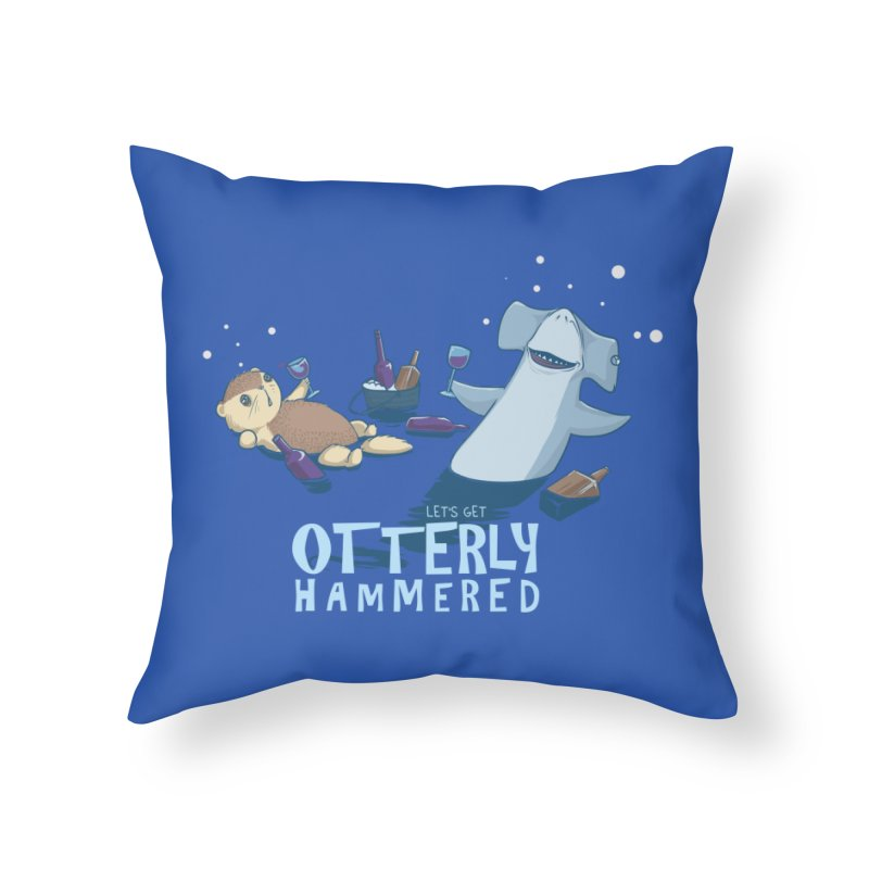 Otterly Hammered Home Throw Pillow by Stuff, By Alan Bao