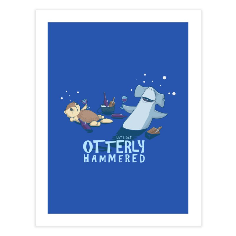 Otterly Hammered Home Fine Art Print by Stuff, By Alan Bao