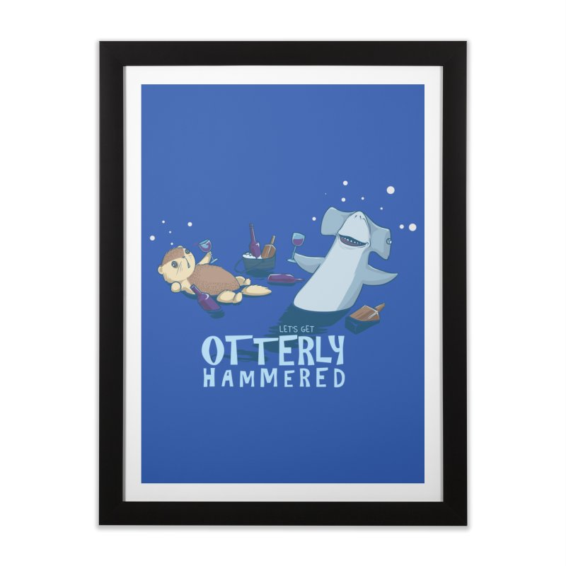 Otterly Hammered Home Framed Fine Art Print by Stuff, By Alan Bao
