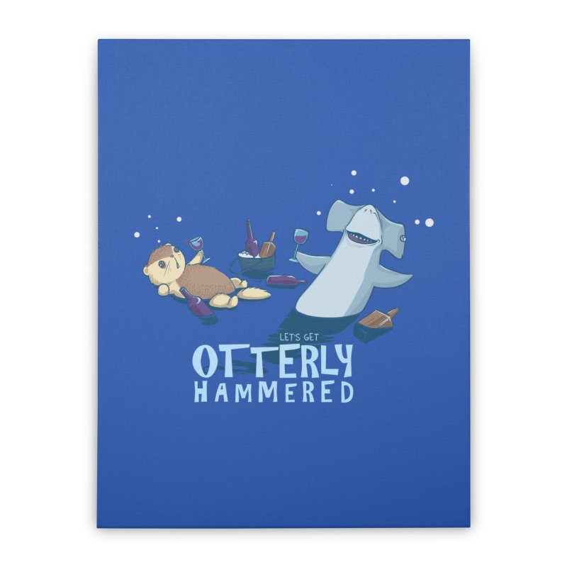 Otterly Hammered Home Stretched Canvas by Stuff, By Alan Bao