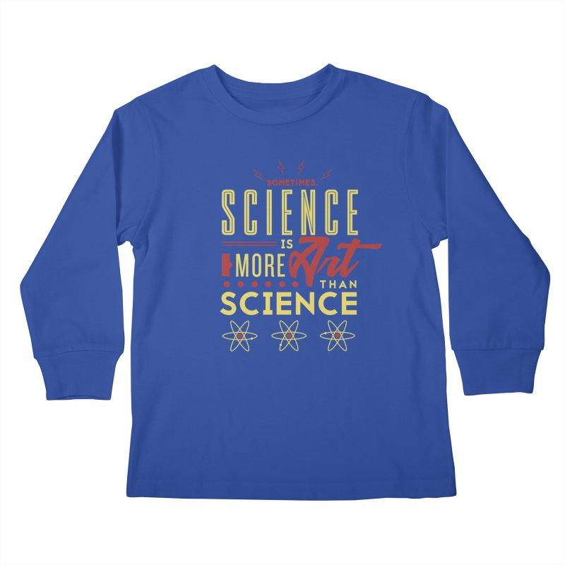 Sometimes, Science Is More Art Than Science Kids Longsleeve T-Shirt by Stuff, By Alan Bao