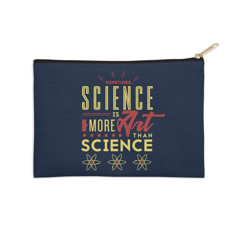 Sometimes, Science Is More Art Than Science Accessories Zip Pouch by Stuff, By Alan Bao