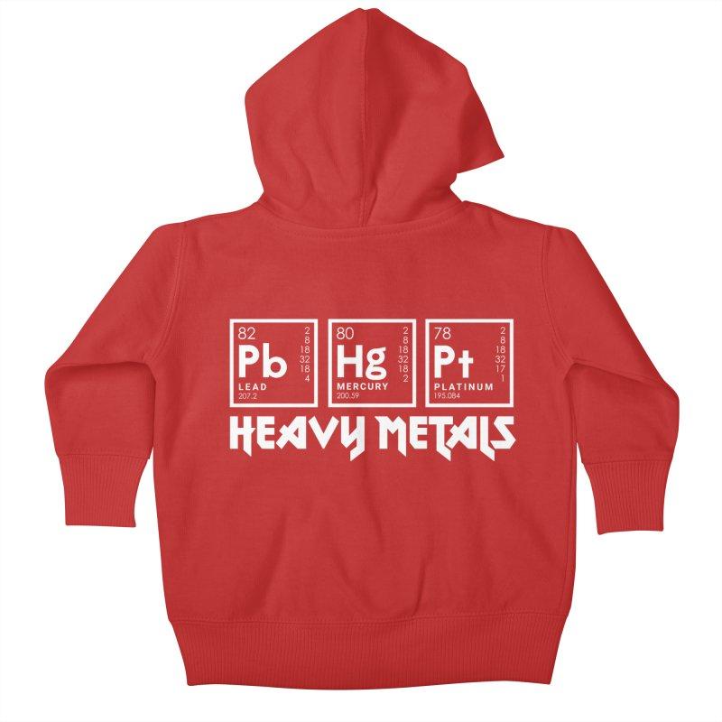 Heavy Metals Kids Baby Zip-Up Hoody by Stuff, By Alan Bao