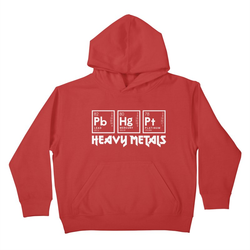 Heavy Metals Kids Pullover Hoody by Stuff, By Alan Bao