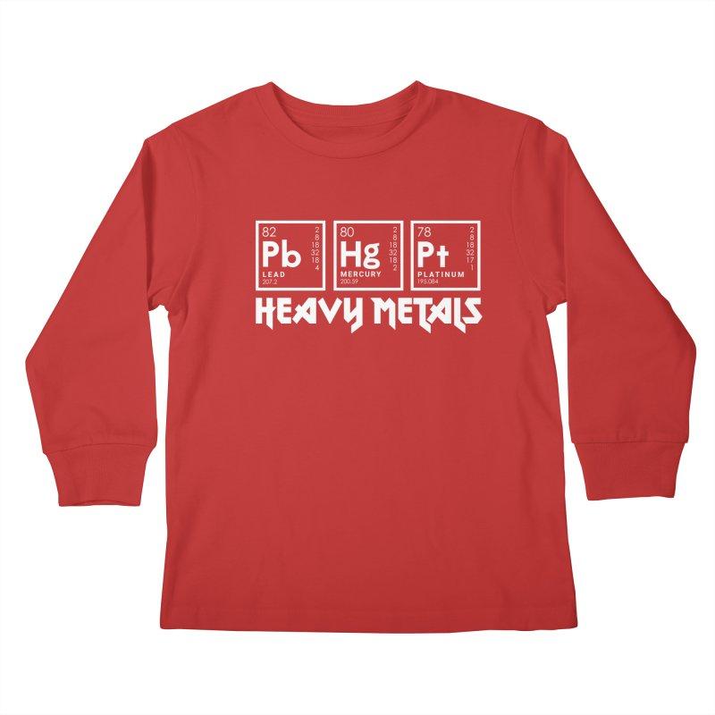 Heavy Metals Kids Longsleeve T-Shirt by Stuff, By Alan Bao