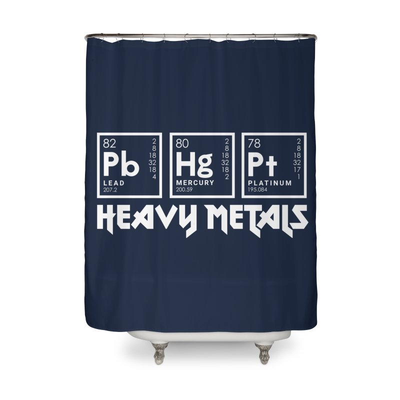 Heavy Metals Home Shower Curtain by Stuff, By Alan Bao