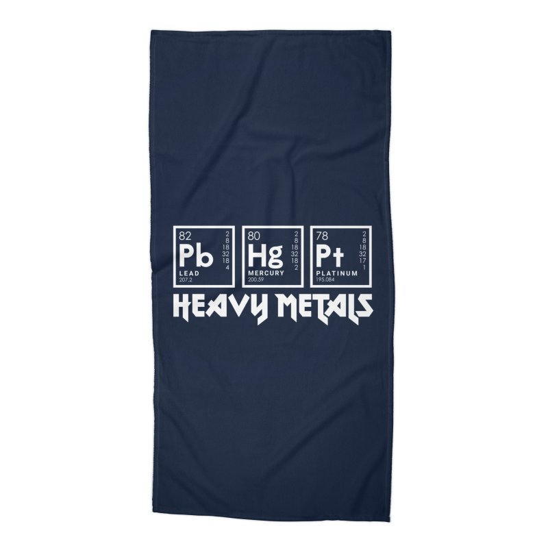 Heavy Metals Accessories Beach Towel by Stuff, By Alan Bao