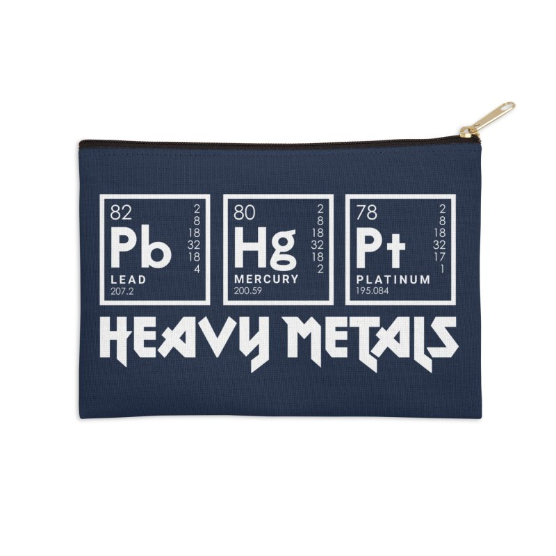Heavy Metals Accessories Zip Pouch by Stuff, By Alan Bao