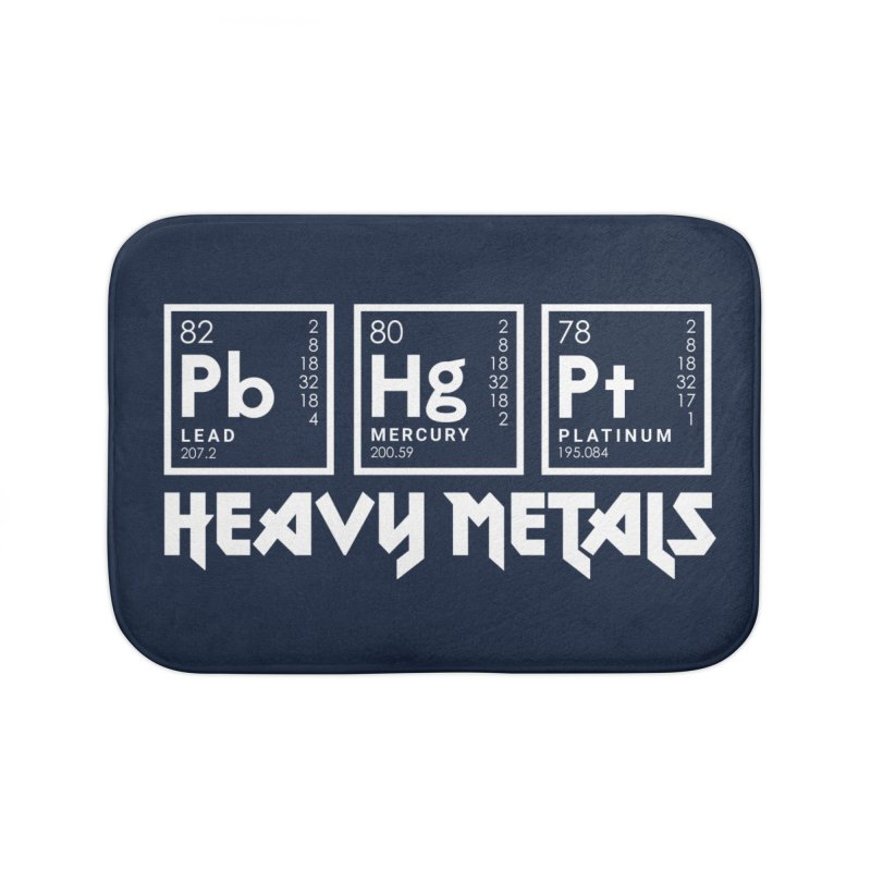 Heavy Metals Home Bath Mat by Stuff, By Alan Bao